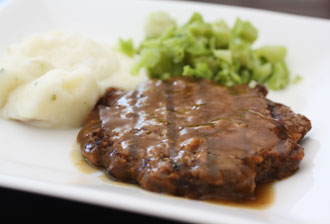 Beef Patty with Onion Gravy