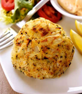 crabcakes, one of our gourmet corporate gifts