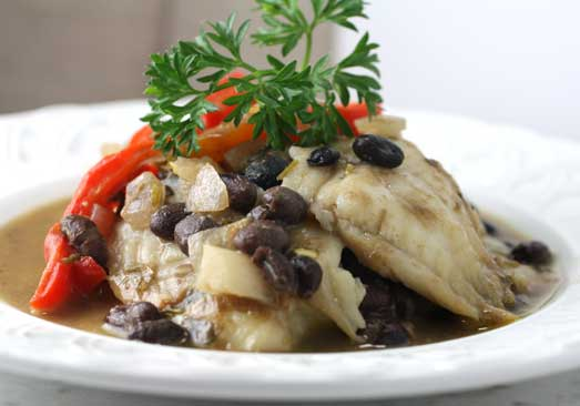 Tilapia with Miso, Ginger & Black Beans