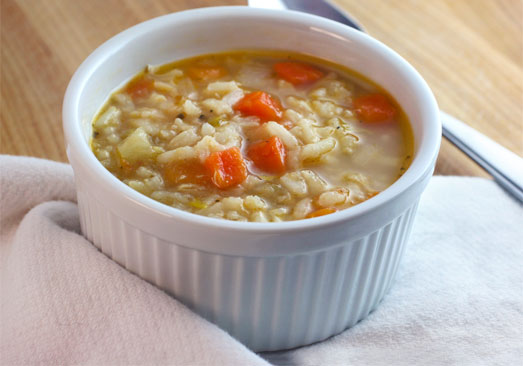 Vegetable Rice Chicken Soup