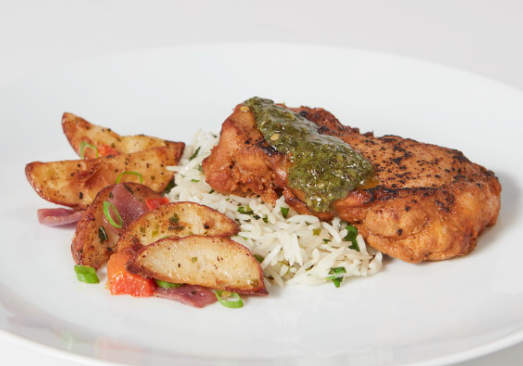 Marinated Chicken with Cilantro Rice & Roasted Potatoes - Individual Meal
