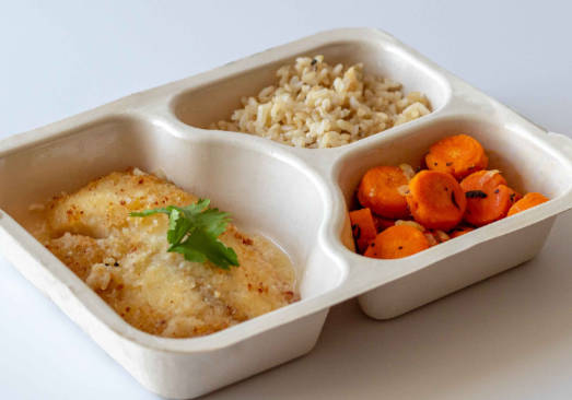 Baked Tilapia, Brown Rice & Minted Carrots - Individual Meal