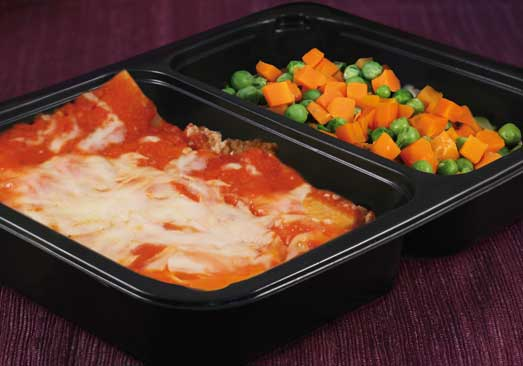 Beef Lasagna with Peas & Carrots - Individual Meal