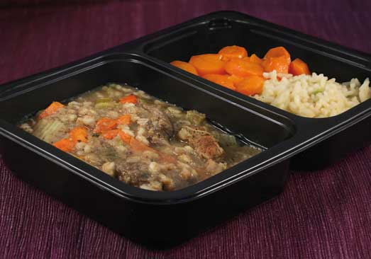 Beef Barley Stew, Brown Rice & Minted Carrots - Individual Meal