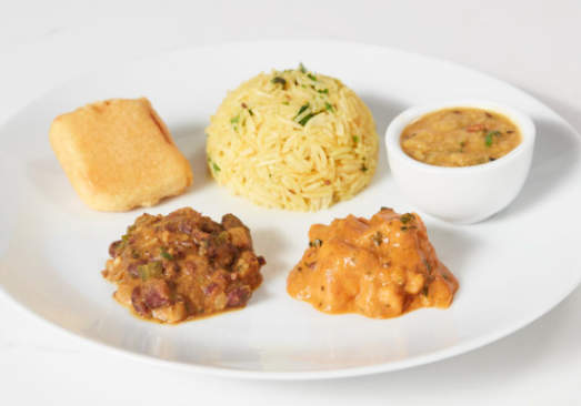 Indian Curries with Lemon Rice - Individual Meal