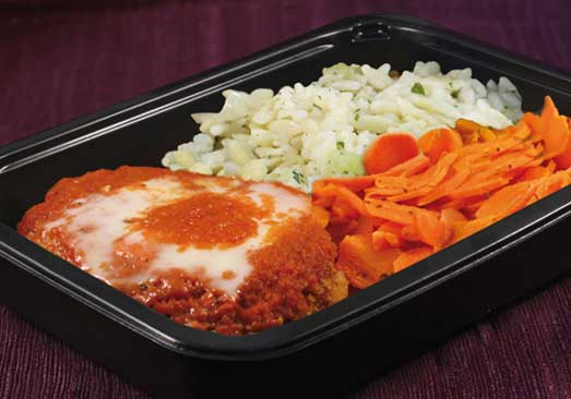 Chicken parmigiana complete Meal