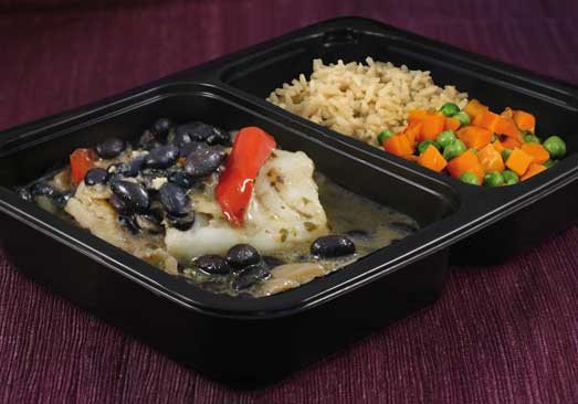 Tilapia with Miso Ginger, Black Beans, Rice with Peas & Carrots - Individual Meal