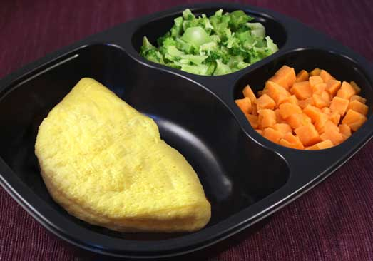 Plain Omelet, Sweet Potatoes & Broccoli - Individual Meal