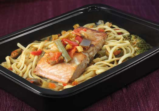 Salmon & Vegetable Linguini - Individual Meal