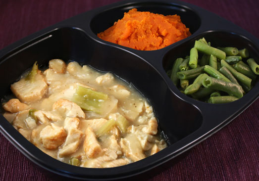 Roast Turkey with Gravy, Sweet Potatoes, Green Beans - Individual Meal