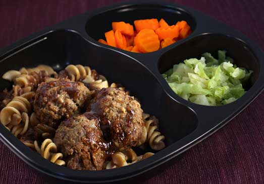 Beef Swedish Meatballs with Whole Grain Rotini, Carrots & Cabbage- Individual Meal