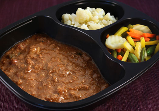 Chili Con Carne, Capri Blend Vegetables, Spinach- Individual Meal