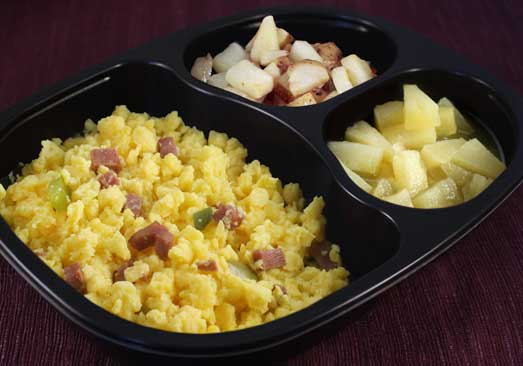 Denver Scramble with Diced Turkey Ham, Bell Pepper, Potatoes & Pineapple - Individual Meal