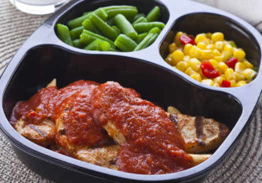 Chicken Tenders with Tomato Basil Penne Pasta, Corn with Peppers & Green Beans - Individual Meal
