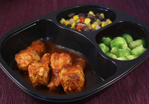 BBQ Chicken Drummies, Brussels Sprouts, Black Beans & Corn - Individual Meal