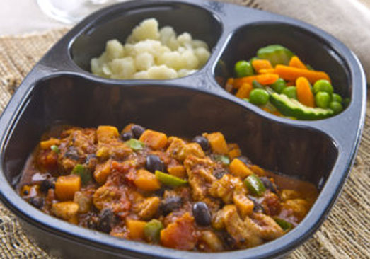 Chicken Chili with Beans with Cauliflower & Spring Vegetables - Individual Meal