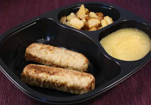 Sausage & French Toast, Hashbrowns & Applesauce - Individual Meal