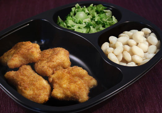 Fish Nuggets with Northern Beans & Broccoli - Individual Meal