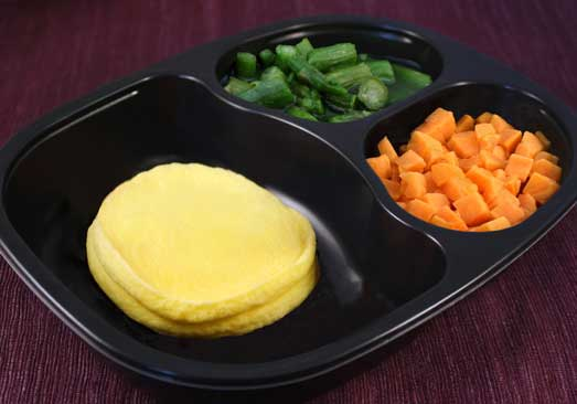 Fried Egg Patties with Sweet Potatoes & Asparagus-Individual Meal