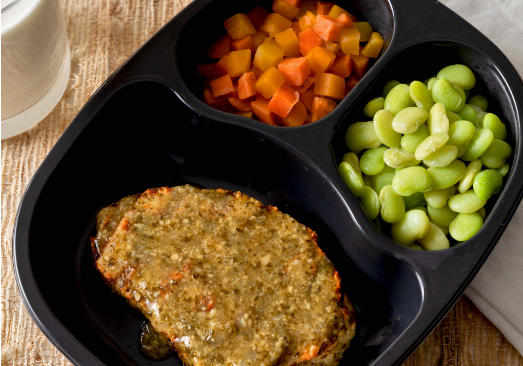 Grilled Pesto Chicken Breast Patty with Lima Beans & Three Seasons Blend - Individual Meal