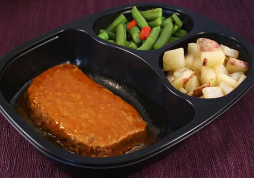 Chipotle Meatloaf with Red Skin Potatoes & Green Beans - Individual Meal