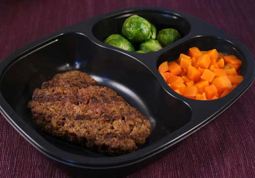 Beef Patty with Carrots & Brussels Sprouts - Individual Meal