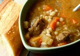 Vegetable Barley Soup with Beef