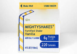 Mighty Shakes, Vanilla, 4 oz, 3 Shakes