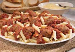 Penne with Meatballs & Tomato Sauce