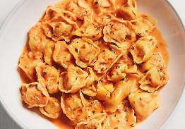 Lobster Tortellini in Tarragon Pink Sauce