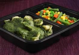 Cheese Tortellini with Pesto & Mixed Vegetables - Individual Meal