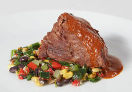 Braised Short Ribs with a Black Bean & Corn Medley - Individual Meal