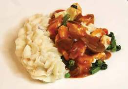 Chicken Marsala with Mashed Potatoes - Individual Meal