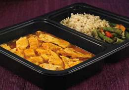 Chicken Paprika with Brown Rice and Green Beans - Individual Meal