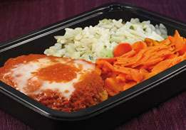 Chicken Parmigiana, Rice & Carrots - Individual Meal