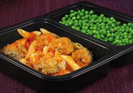 Meatballs with Penne Pasta & Peas - Individual Meal