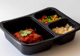 Meatloaf & Tomato Sauce, Brown Rice with Peas & Carrots - Individual Meal