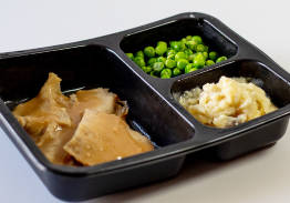Roast Turkey with Gravy & Mashed Potatoes with Peas - Individual Meal