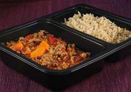 Turkey Chili with Brown Rice - Individual Meal