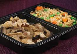 Chicken Marsala With Rice & Peas & Carrots - Individual Meal