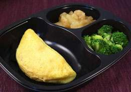 Cheese Omelet, Broccoli & Cinnamon Apples - Individual Meal