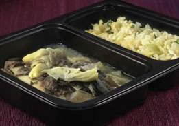 Tilapia & Rice Pilaf with Mushroom & Artichoke Hearts - Individual Meal