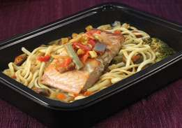 Salmon & Vegetable Linguine