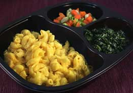 Mac & Cheese with Spinach, and California Blend Vegetables - Individual Meal