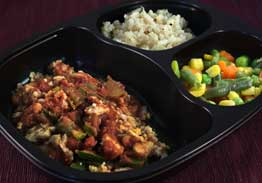 Santa Fe Chicken with South West Sauce, Lemon Cilantro Brown Rice & Mixed Vegetables - Individual Meal