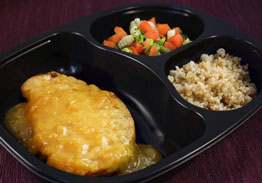 Chicken Fillet with Honey Mustard Sauce, Herbed Quinoa, California Blend Vegetables - Individual Meal