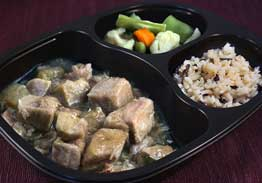 Roast Pork with Ginger Glaze, Rice Pilaf with Mushrooms & Vegetables