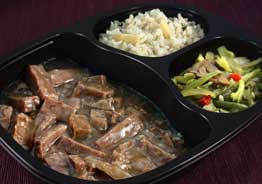 Beef with Garlic Sauce, Pineapple Brown Rice & Japanese Blend Vegetables- Individual Meal