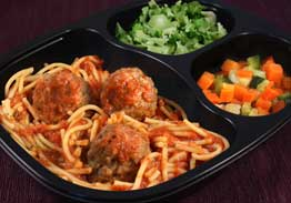 Whole Grain Spaghetti And Beef Meatballs, Broccoli, Zucchini & Carrots - Individual Meal