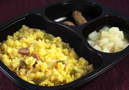 Vegetable Scrambled Egg White, Turkey Sausage & Pears - Individual Meal